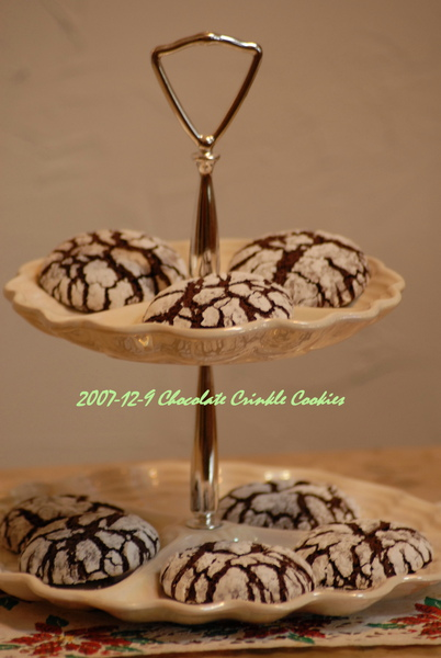 Chocolate Crinkle Cookies飄雪餅乾