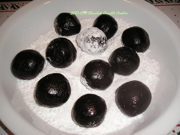 Chocolate Crinkle Cookies飄雪餅乾