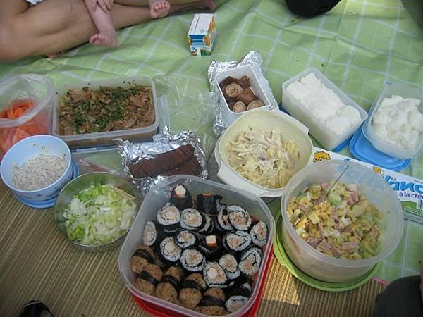 豐盛的野餐!!!!壽司.飯糰.沙拉+甜點!!