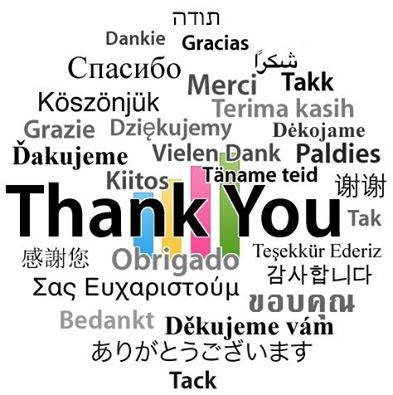 全世界的謝謝