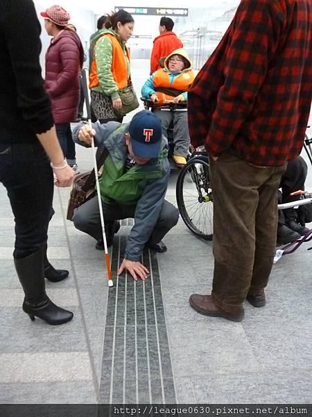 桃園捷運A1車站視覺障礙者引導設施