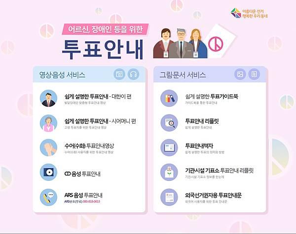 2018韓國中央選舉管理委員會 高齡者、身心障礙者投票指引(網頁)