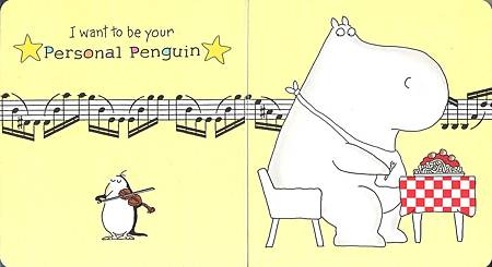 penguin play violin