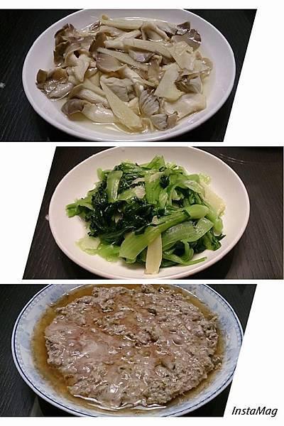 美善品-一鍋三菜(秀珍菇、白飯、瓜仔肉)