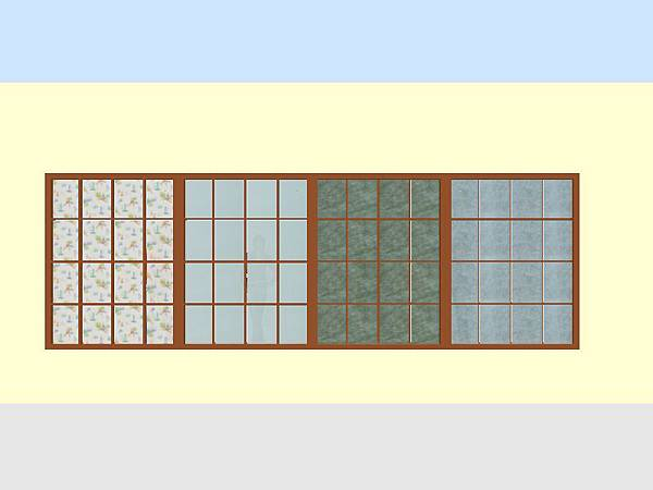 彩波白膜棉紙夾紗玻璃