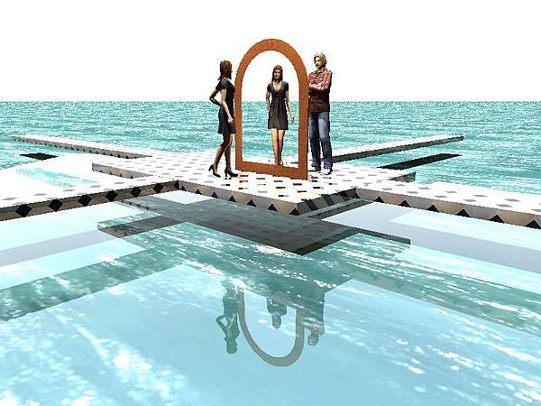 水面上不同形狀鏡子的製作04