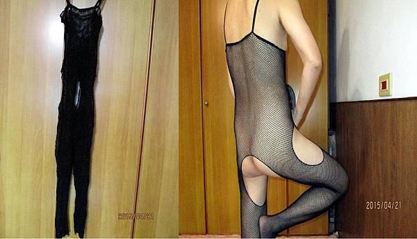 2015.04.24性感開檔連身網衣及本人犧牲色相示範穿著 (1)-穿上女性開襠連身網衣與丁字褲說故事-網購女性性感內衣褲篇