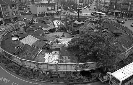 早期台北圓環(台北市立文獻館提供)