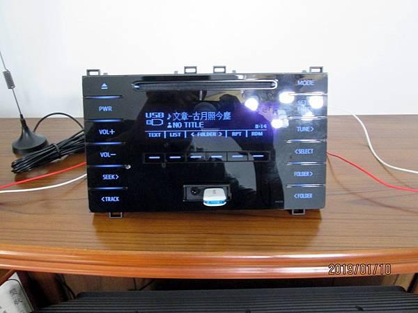 TOYOTA ALTIS CQ-JS76G0WW汽車音響改為家用音響 (11)
