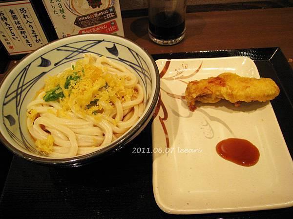 純烏龍麵with炸雞肉--讃岐釜揚げうどん丸亀製麺 京都三条