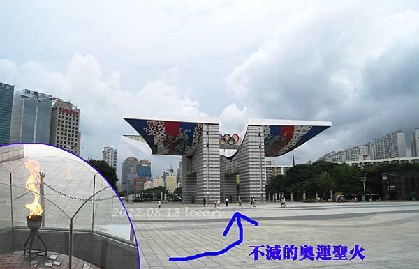 首爾奧林匹克公園標的物-和平之門&奧運聖火