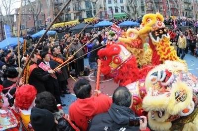 紐約華埠熱鬧歡慶中國新年