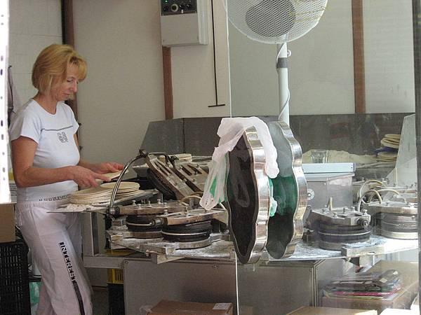 製溫泉餅的機器