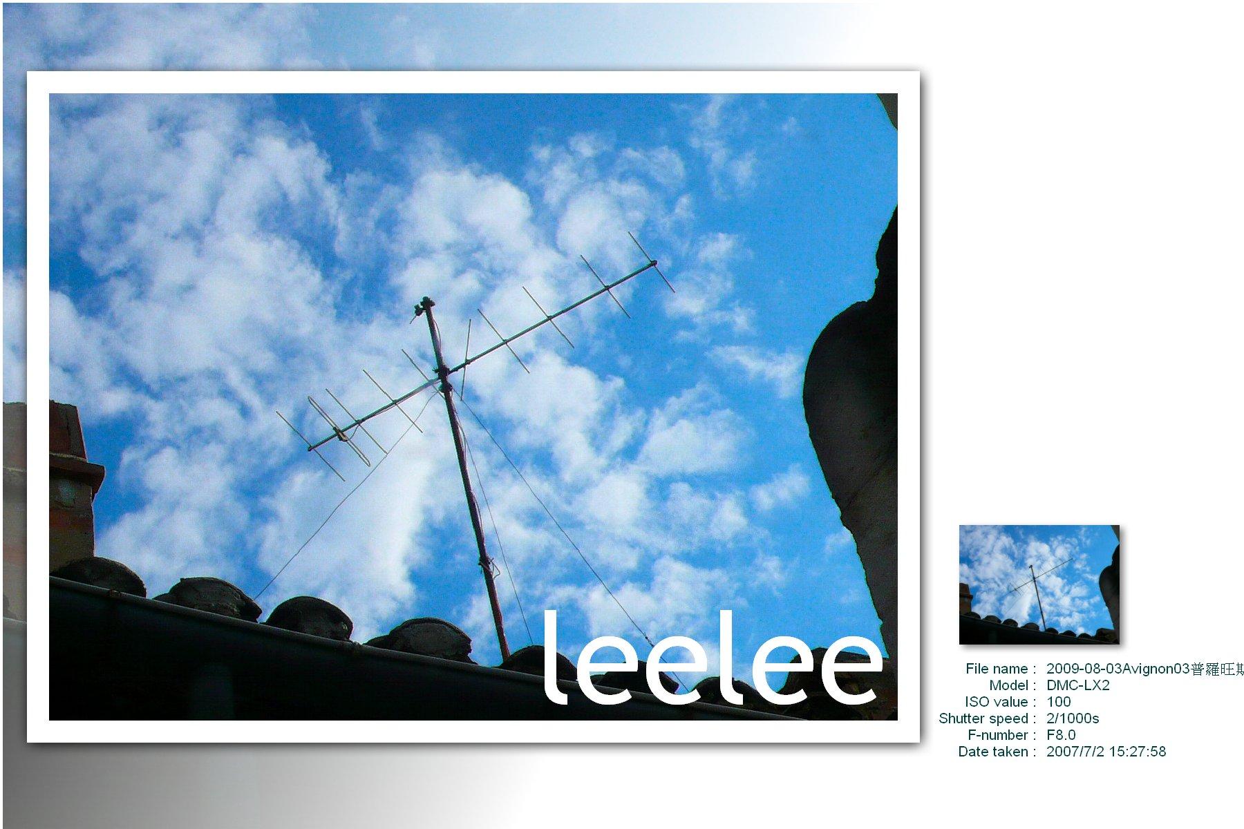 2009-08-03Avignon03普羅旺斯的天空真是藍得不一樣,美呆了….jpg