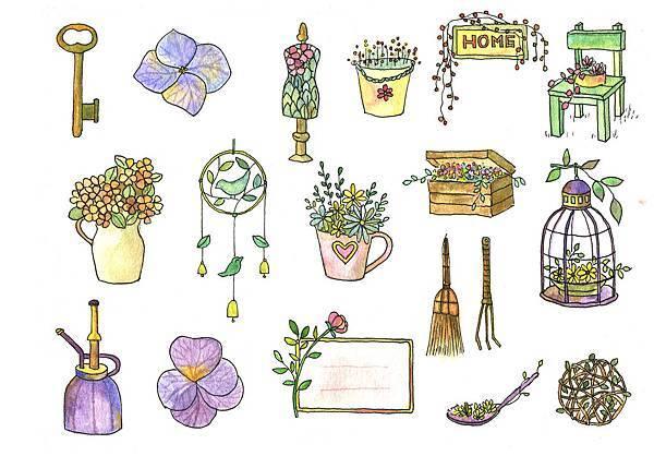 水彩刺繡-花園-4