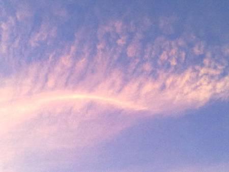 鳳尾般的黃昏彩霞