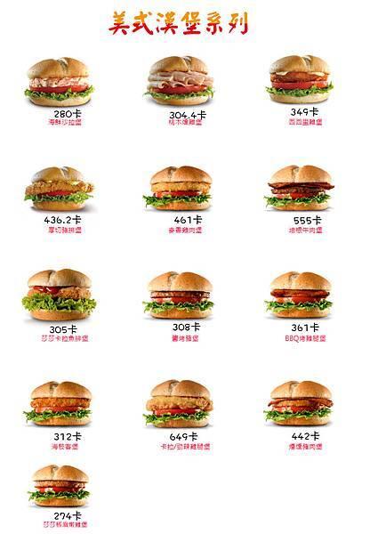 拉亞漢堡熱量表-1番:美式漢堡