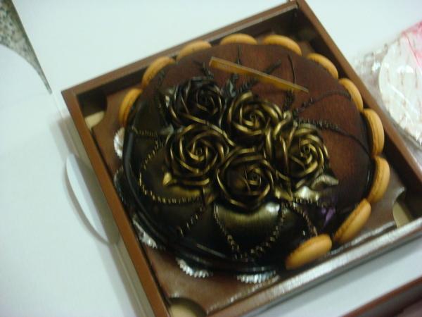 玫瑰花的蛋糕