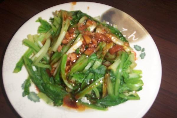 燙青菜(據說是水耕還有機的唷~)