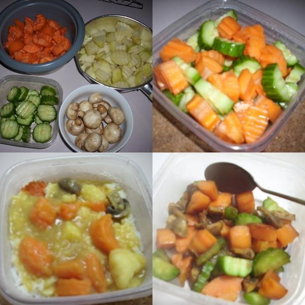 胡蘿蔔&小黃瓜&蘑菇&馬鈴薯