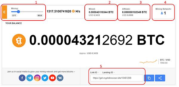 (2021.10更新)CryptoTab Browser 網路賺錢 被動收入教學 出金累積0.02117452 BTC