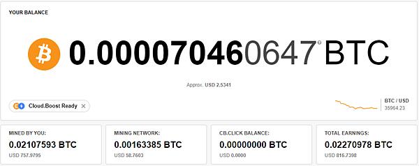 (2021.06更新)CryptoTab Browser 網路賺錢 被動收入教學 出金累積0.0217593 BTC