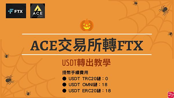 ACE交易所|ACE轉FTX 圖解教學 USDT提現(轉出) 影片檔 三週年慶典