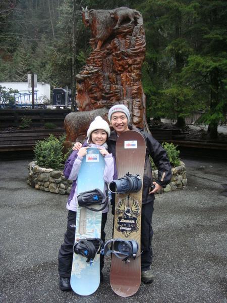 2個人都是第一次滑雪.JPG