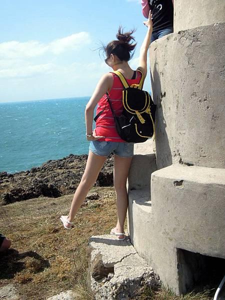 我在菊島,風很大...