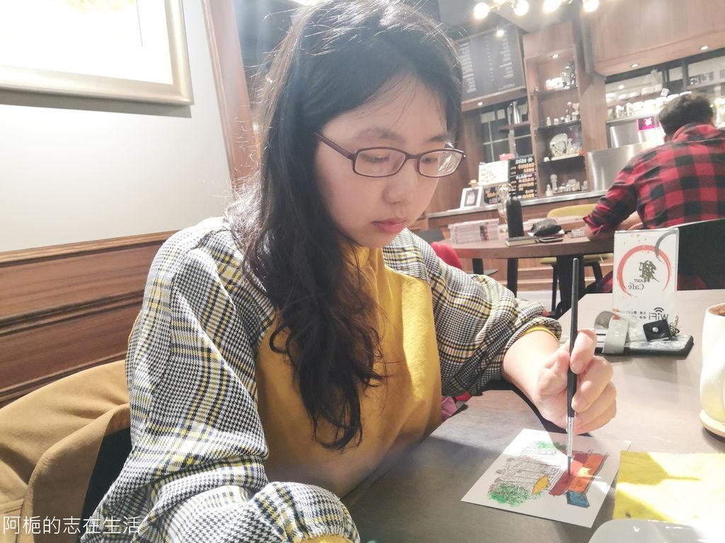 師大夜市複合式咖啡廳推薦》響ART〉讓水彩線稿套餐喚起心中沉睡已久的藝術本能~心靈滿載而歸的藝文之旅~值得一訪在訪的畫廊咖啡廳~ (內附價格表)響ART不限時,安靜舒服