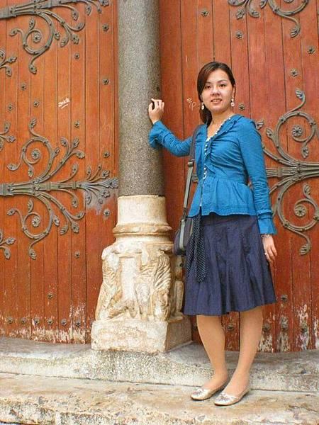 教堂的大門也是很好的背景