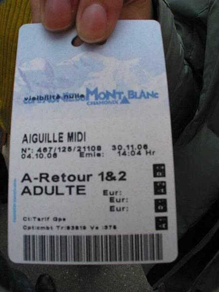 Mont Blanc的票