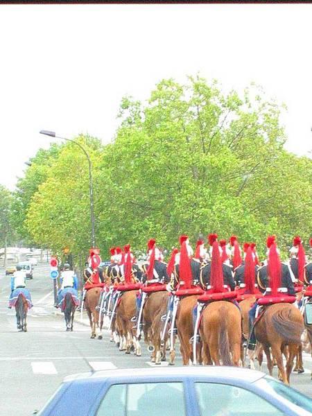 竟然遇到國慶日才會出現的騎兵(今天不是國慶日喔)