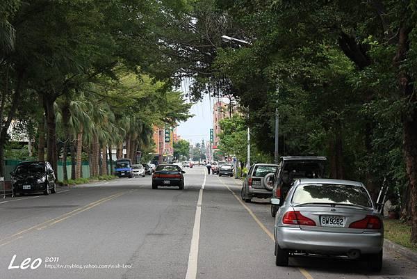 台東鐵道藝術村前的道路