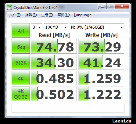 WD MyPassport Essential USB 3.0 500GB Benchmark