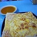 我最愛的印度餅 裡面有起司和蛋!prata