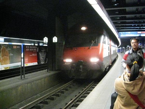 我們的火車來了!