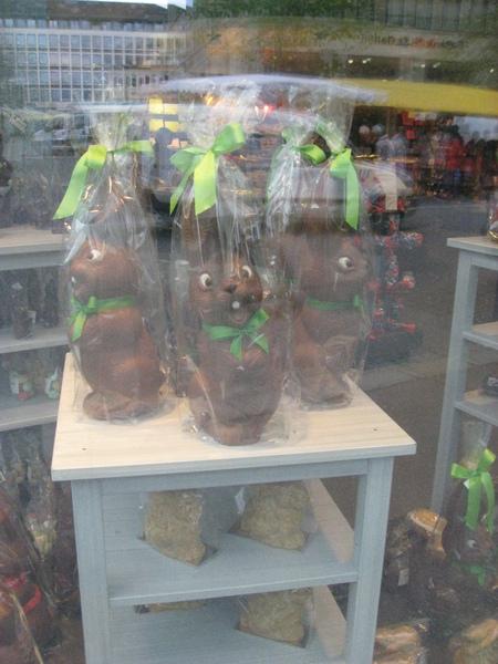 福活節兔子巧克力(空心的)