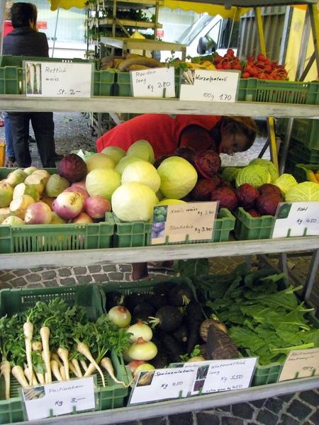 五顏六色的蔬果