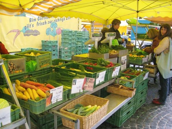翠綠的蔬果市場