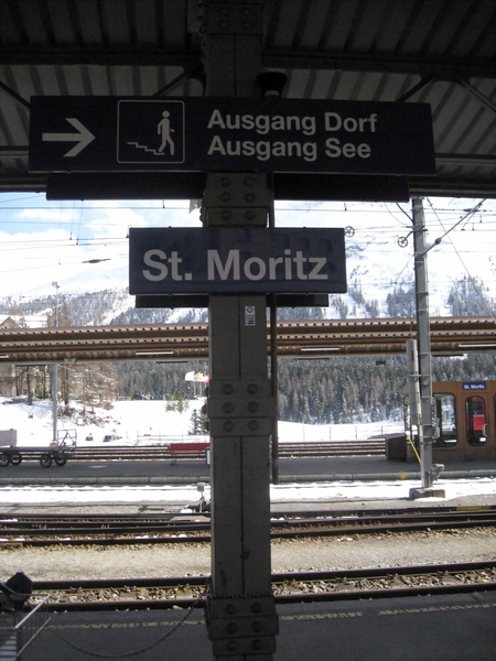 來到St. Moritz囉!