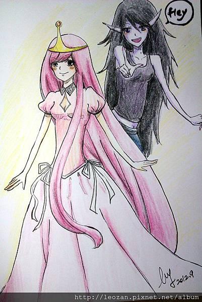 泡泡糖公主與艾薇爾彩色版