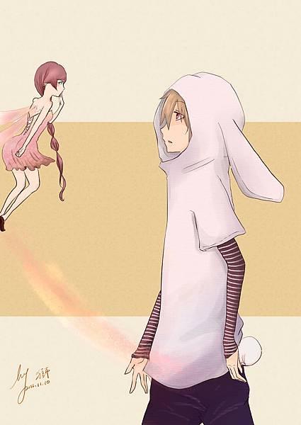 憂鬱小兔與花兒精靈