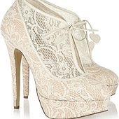 超漂亮的蕾絲婚鞋 心幸福 婚禮小物