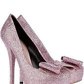 閃亮幸福的大蝴蝶結鞋 心幸福 婚禮小物