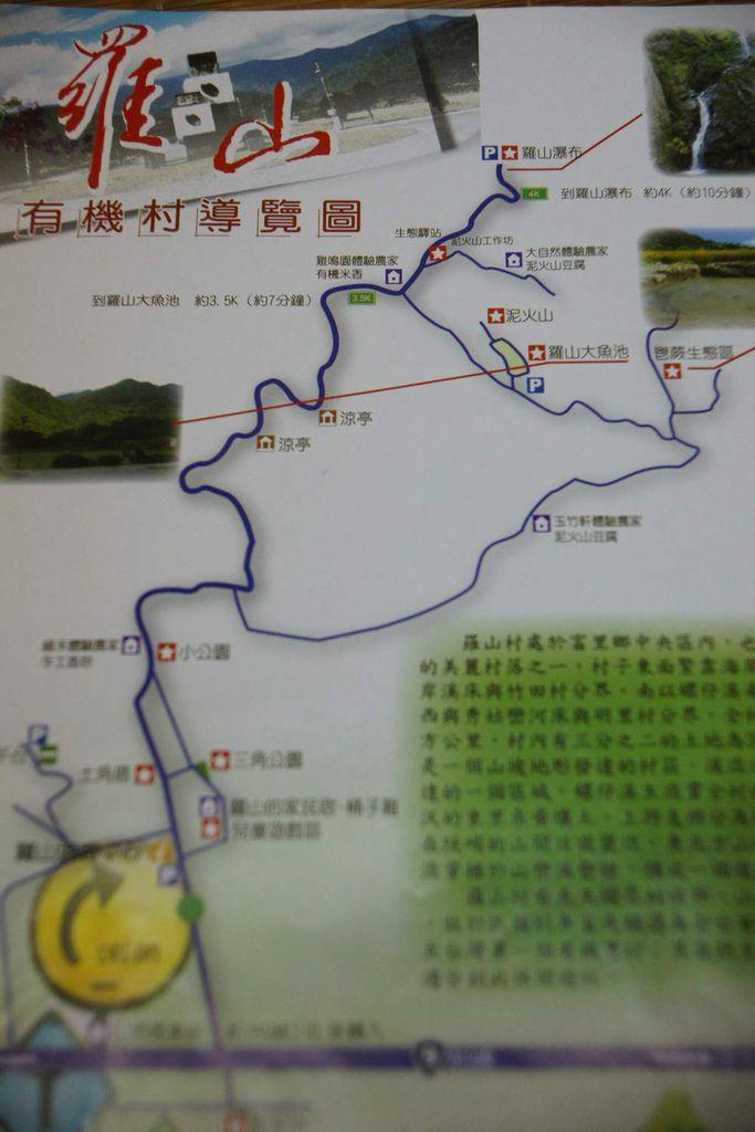 羅山遊憩地圖