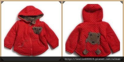 暖暖熊厚毛外套