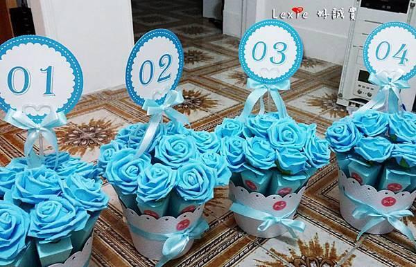 婚禮佈置桌花喜糖盒6