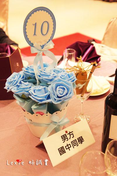 婚禮佈置桌花喜糖盒2
