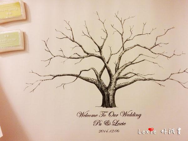 婚禮佈置指紋樹2